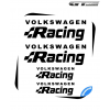 4 Stickers VW Volkswagen Racing Alternative 210 mm et 100 mm