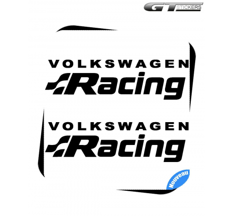 2 Stickers VW Volkswagen Racing Alternative 200 mm