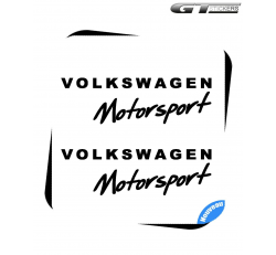 2 Stickers VW Volkswagen Motorsport Design 200 mm