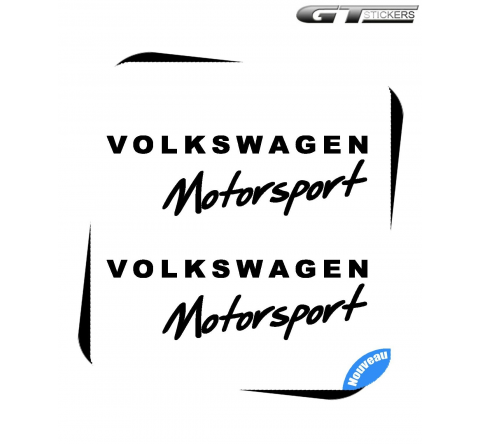 2 Stickers VW Volkswagen Motorsport Design 200 mm