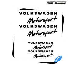 4 Stickers VW Volkswagen Motorsport Design 100 mm et 200 mm