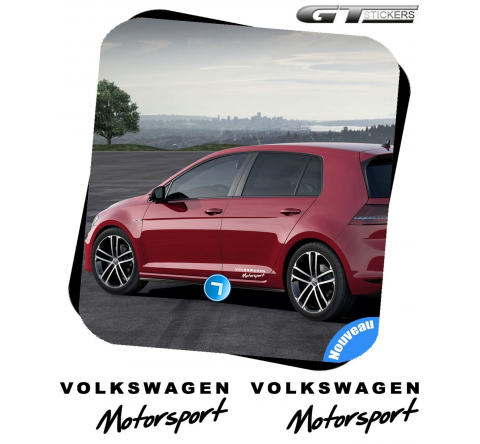 2 Stickers VW Volkswagen Motorsport Design 300 mm