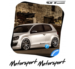 2 Stickers VW Volkswagen Motorsport Italic Design 300 mm