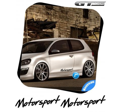 2 Stickers VW Volkswagen Motorsport Italic Design 400 mm