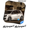 2 Stickers VW Volkswagen Motorsport Italic Design 400 mm