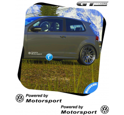 2 Stickers Volkswagen Powered by VW Motorsports 300 mm