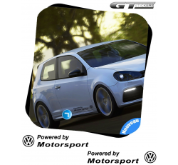 2 Stickers Volkswagen Powered by VW Motorsports 400 mm