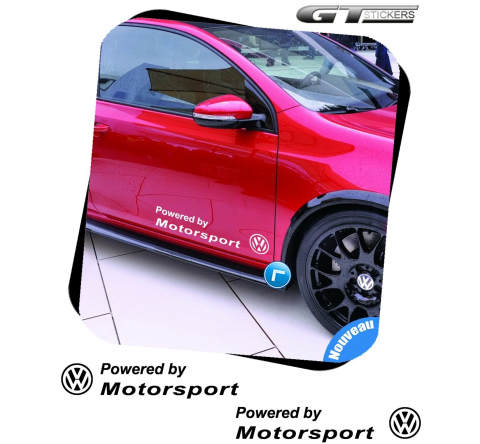 2 Stickers Volkswagen Powered by VW Motorsports 500 mm