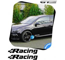 2 Stickers VW VOLKSWAGEN Racing 300 mm
