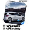 Kit Stickers VW VOLKSWAGEN Racing + Logo 300 mm