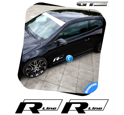 2 Stickers VW Volkswagen R Line Italic design 300 mm