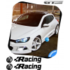 2 Stickers Volkswagen VW Racing Design Style 300 mm