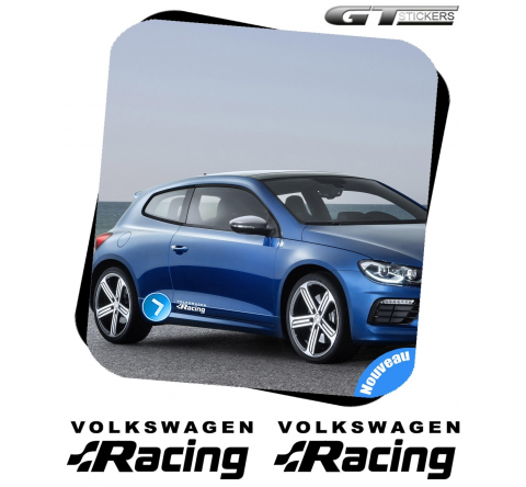 2 Stickers VW Volkswagen Racing Design 300 mm