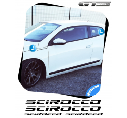 4 Stickers VW Volkswagen Scirocco 100 mm et 200 mm