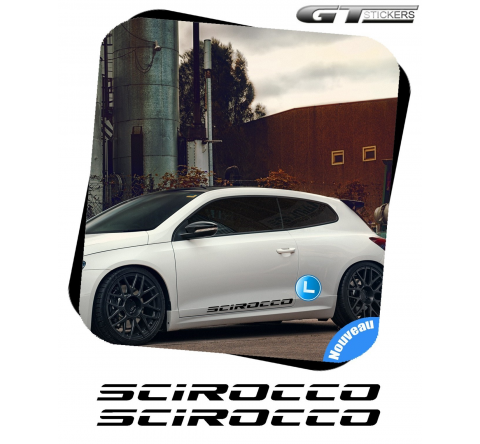 2 Stickers VW Volkswagen Scirocco XL 500 mm