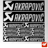 Planche de 12 stickers AKRAPOVIC