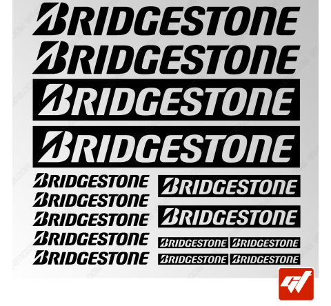 Planche de 15 stickers BRIDGESTONE