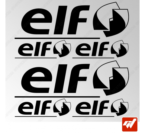Planche de 6 stickers ELF