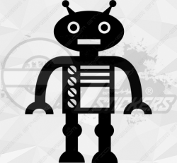 Sticker Enfant Robot 5