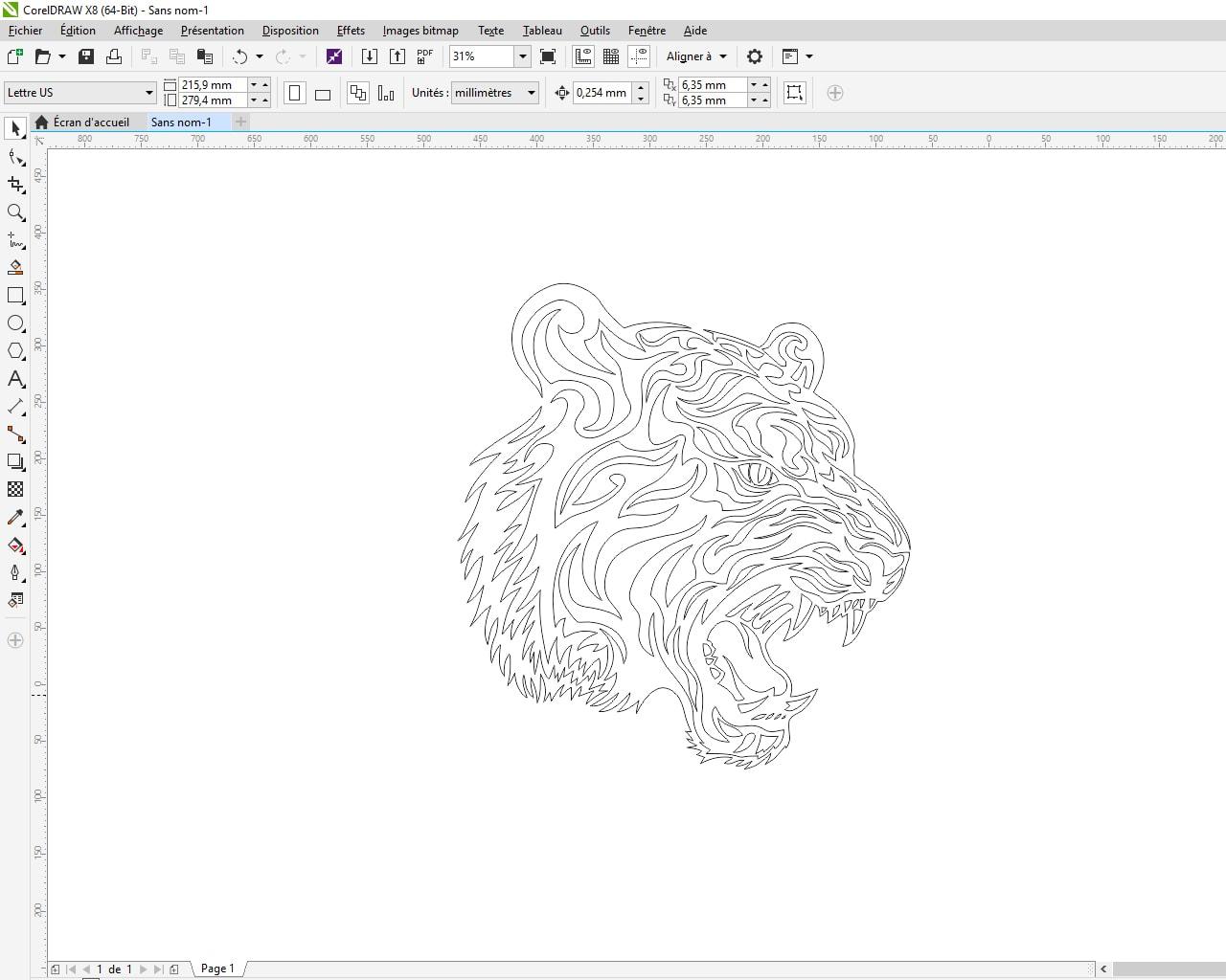 Optimisation du modèle vectoriel pour le traceur de découpe numérique